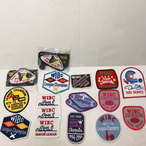 Vintage WIBC bowling patches